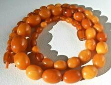Antike Bernsteinkette real amber butterscotch necklace egg yolk, 60 cm/32,5Gramm
