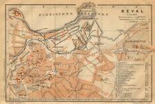 Tallinn town/city plan linna kaart kava. Estonia. Reval. BAEDEKER 1912 old map