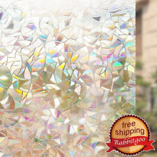 "Rabbitgoo static window film decorative rainbow effect 17.5""x78.7""(44.5x200cm)"