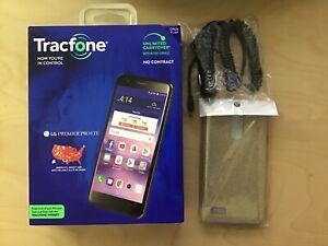 New UNLOCKED LG Premier Pro LTE Verizon AT&T T-mobile Android Phone+Case+Car