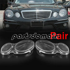 Pair Headlight Lenses Headlamp Cover For MERCEDES E CLASS W210 E320 E350 1996-03