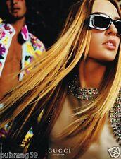 Publicité advertising 1999 Les Lunettes de soleil Gucci