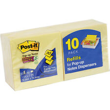 Lot of 6 10-Pack POST-IT Pop-up Notes 3x3-Inches Canary Yellow = 60 Pads   #AB