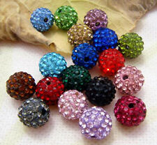 10PCS MIX 10mm Fashion Disco CZ Clay Crystal charm bead for charm wholesale u