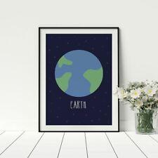Earth planet Artwork poster for children learning 3 of 10