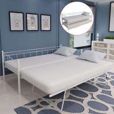 VidaXL Tagesbett Bettgestell 180x200/90x200 Cm Stahl Weiß