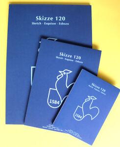 Skizzenblock  A2, A3, A4, A5, 50 Blatt, 120g Hahnemühle