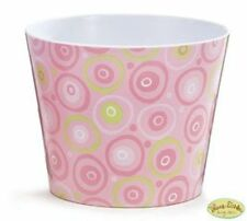 """Pink, Green, White Dots & Circles Zoobilee 5.75"""" Pot Cover"""