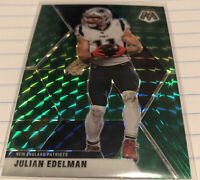 2020 Panini Mosaic Green Prizm Julian Edelman Parallel Card #138 Patriots WR