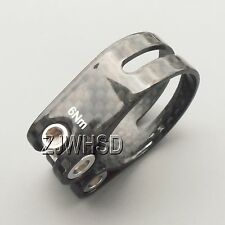 34.9mm 12g Carbon Fiber Ti Titanium Bolt Bike Saddle SeatPost Clamp Collar BMX