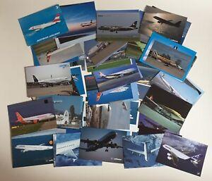 Konvolut 86 Flugzeugpostkarten Flugzeug Postkarten verschiedener Airlines neu
