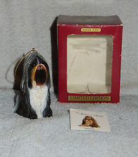 Aca Limited Edition Shih Tzu Dog Christmas Ornament in Box & Paper