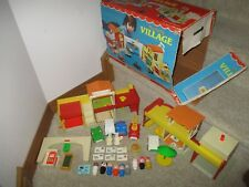 Fisher Price Little People Town SET Play Family Village 997 BL Fire set lot box