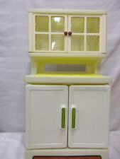 little tikes kitchen cabinet doors windows counter top white yellow brown fun