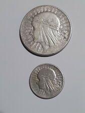pologne 2 monnaies , 10zlotys 1932 , 2 zlotys 1934 .