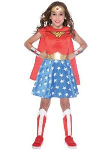 Licensed Child Wonder Woman Fancy Dress Classic Costume Kids Girls Ages 3-12 New