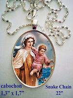 """Medalla porcelana cerámica de /"""" Ntra Sra de Fatima  30x40mm"""