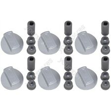 6 X Hotpoint Universal Cooker/Oven/Grill Control Knob And Adaptors Silver