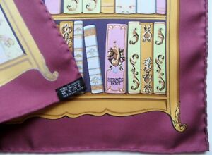 BOOKS - AUTH. HERMES SILK POCHETTE GAVROCHE NECK SCARF CARRE VINTAGE, EXCL w/TAG