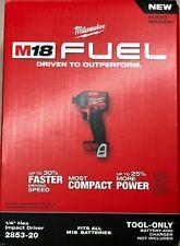 Milwaukee 2853-20 M18 Fuel Lithium 1/4 Impact NEW Bare New in Box