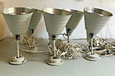 6 x  Helo Leuchte, Wandlampe, BAUHAUS  Strahler mit Gelenk, beige