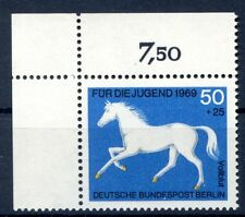 Berlin Mi-Nr 329  Ecke 1  (50+25) -Jugend;Pferde- ** Postfisch 1969