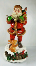 Home For The Holidays Visions of Santa Musical Figurine 1874 in Box with rabbit