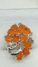 ❤JAYNES GEMS NATURAL ORANGE FIRE OPAL RING SIZE UK N..US 6.5