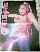 MADONNA POSTER Blond Ambition Tour BRAVO MAGAZINE 1990 German Virgin NO Promo 12
