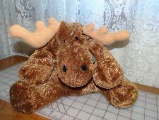 Mary Meyer Moose Flip Flops Plush Stuffed Animal Brown Green Gingham Bow Bean
