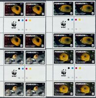 Penrhyn(Cook Islands)-ButterflyFishes.-WWF-4x4st.In Block. MNH**, CW 337B