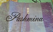 Ladies Purple Pashmina Wrap Shawl Cape Scarf reversible