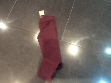 NWT Juicy Couture New & Gen. Girls Age 8 Burgundy Cotton Trousers & Juicy Logo