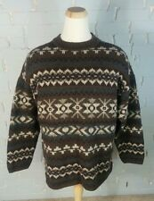 Vintage 80s 90s Abercrombie & Fitch the Big Shirt Wool Sweater Ski Christmas XL