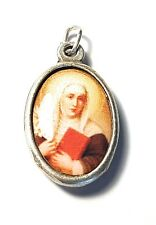 "Saint Catherine of Siena 1"" relic medal against miscarriages, fire, bodily ills"