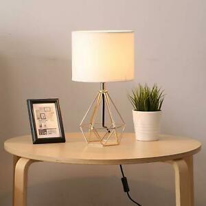Modern Geometric Drum Shade Light 40cm Bedside Table Lamp lighting lounge Lamps