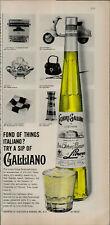 1959 Galliano Purse Typewriter Motor Bike Italian Liqueur Vintage Print Ad 2249