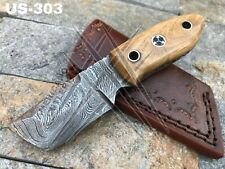 AMERICANO CUTLERY HANDMADE DAMASCUS HUNTING FULL TANG TANTO KNIFE - US-303
