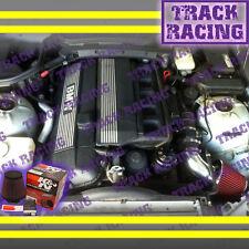 97 98 99 00 01 02 BMW Z3 2.3L 2.5L 2.8L 3.0L E36 AIR INTAKE KIT+K&N Black Red