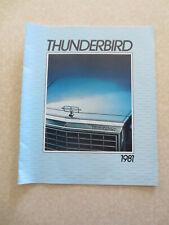 1981 Ford Thunderbird cars advertising booklet -