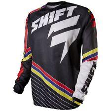 SHIFT Strike Stripes Mens MX Dirt Bike Off-Road Quad Motocross Jerseys-Black-LG