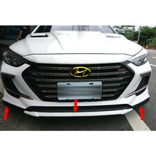 Matte Black For Hyundai AD Elantra Sport 4D Sedan Front Bumper Lip Splitter 3PCS