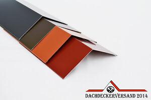 Firstblech Gratblech Dachblech Winkelblech Dach Material auswählbar 1m o. 2m