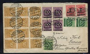 INFLA: GUTE MISCHFRANKATUR auf AUSLANDSBRIEF ab MÜNCHEN 1923 nach LUZERN