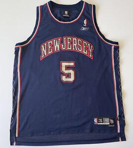 New Jersey Nets Jason Kidd Mens 2XL Reebok Jersey Navy Blue