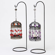 Unbranded Metal Bird Cage Candle & Tea Light Holders