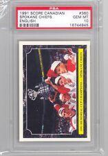 1991 Score Canadian Spokane Chiefs (#360) PSA10 PSA