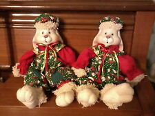 """Porcelain Rabbits""""HipHop""""~House of Lloyd~COLLECTOR-Decor-Gifts~Set of 2~$16OFF"""