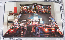 New York City Lights NYC Times Square Printed Double Bed Quilt Cover Set New