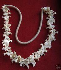 Multi-Horse Caribou Bone Necklace + Matching Earrings